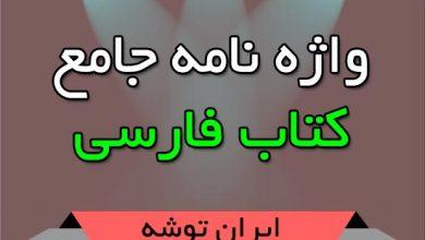 تصویر از واژه نامه جامع کتاب فارسی