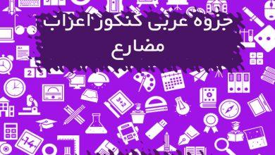 جزوه عربی کنکور اعراب مضارع